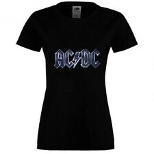 AC/DC 4 T-SHIRT SHORT/LONG SLEEVE WOMEN BLACK FRUIT OF THE LOOM DTG
