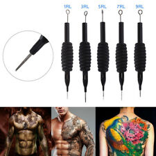 1/3/5/7/9RL 5 Pcs Disposable Tattoo Needle And Tube 3/4 Grip With Tip Tattoo Set