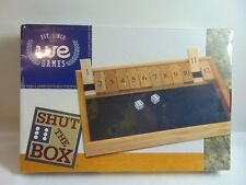 WE Games Deluxe Wood Shut the Box Game - 12 Numbers NIB