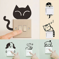 Removable Art Vinyl Quote Cat Dog Wall Sticker Decal Mural DIY Home Room SwitchH