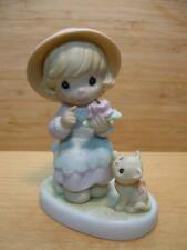 """Precious Moments """"Auntie, You Make Beauty Blossom"""" Girl With Kitty Flower & Ant"""