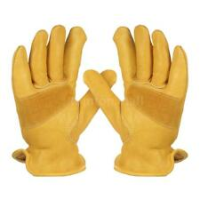 Cowhide Leather Work Gloves Non-Slip For Cycling Driving Protection Welding C5H2