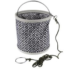 Outdoor Bait Folding Portable Fishing Collapsible Water Bucket and Carry Bag