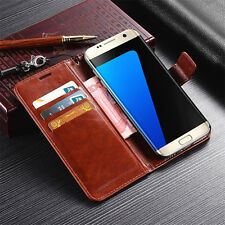 Unique Magnetic Flip Wallet Leather Case Cover Card Pouch For Samsung Galaxy