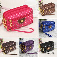 Fashion Cloth Zip Wallet Womens Clutch Card Holder Coin Purse Small Handbag qowi