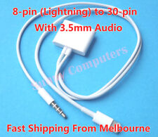 8-pin Lightning to 30-Pin iPhone iPod Dock Adapter Cable With 3.5mm Audio Plug