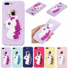 Bling 3D Cute Cartoon Silicone Soft TPU Rubber Case Cover For iPhone 8 7 6 5S SE
