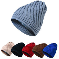 Mens Womens Knit Beanie Winter Baggy Hat Ski Slouchy Cap Chic Unisex Beanie Hats