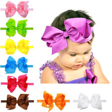 16Pcs Newborn Headband Double Bow Head wraps Big Bow Hair Bands Accessories