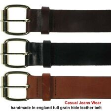 38mm Full Grain Real Hide Superb Quality Thick Strong Leather Mens Womens Belt