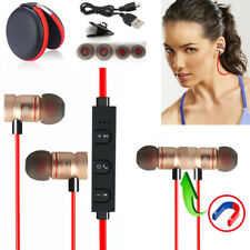 Red -ZH56 Magnetic Bluetooth Handsfree Headset Earphone For Cell Phone Vivo /LG