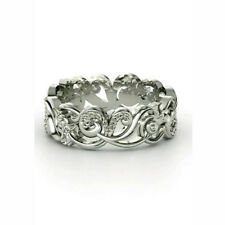 Women Men Charm 925 Silver Ring Engagement Wedding Band Ring Party Size 6-10