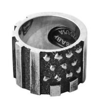 King Baby Studio American Craft Sterling Silver Riveted Flag Ring K20-5921
