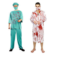 Bloody Doctor Costume Halloween Carnival Party Fancy Dress Adult Mens Clothes