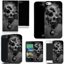 art case cover for many Mobile phones -  black holed skull silicone