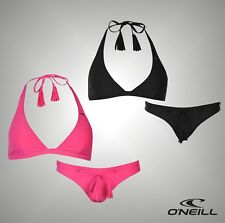 Ladies Branded ONeill Summer Plain Solid Halter Neck Bikini Set Swimwear