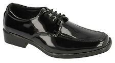 JCDees boys Black Patent Lace Up Shoe, weddings prom shoes n1076