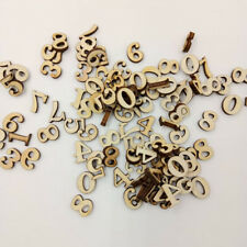 100 Pcs Mixed Wood Letters Numbers Button DIY Craft Sewing Scrapbooking Cute