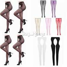 Women Sexy Open Crotch Crotchless Sheer Pantyhose Socks Stockings Tights Costume