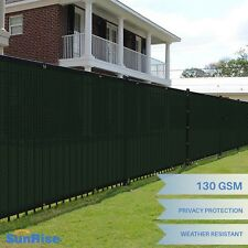 Customize 6' FT Tall Green Privacy Scree Fence Windscreen Fence Mesh ShadeCover