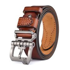 designer high quality luxury genuine leather pin buckle belts for men