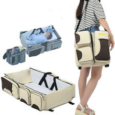Portable Changing Station Outdoor Baby Crib 3in1 Diaper Bag Baby Travel Bassinet
