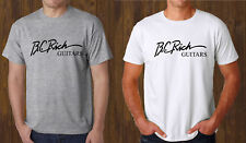 BC RICH GUITARS Grey T-Shirt White Tee Size S to 3XL