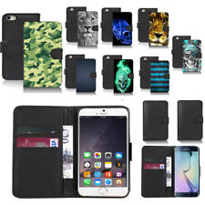 black pu leather wallet case cover for popular mobiles design ref a31