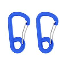 2x Carabiner Snap Clip Hook Camp Hiking Travelling Backpack Buckle Keychain