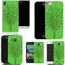 hard durable case cover for samsung & other mobile phones - green grain tree