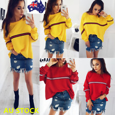 Plus Size Women Loose Pullover Batwing Sleeve Sweater Shirt Oversize Jumper Tops