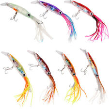Minnow Hooks Octopus Lures Skirt Fishing Lures Baits Crankbaits 5.5in - 7 Colors