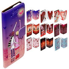 For iPhone X 8 8 Plus - Valentine's Romantic Lover Print Wallet Phone Case Cover