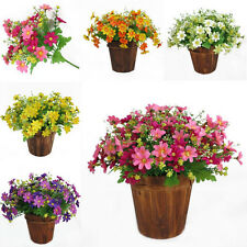 28 Heads Artificial Fake Silk Daisy Flower Bouquet Home Party Wedding Decor EF