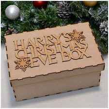 Christmas Eve Box and Christmas Eve Box Topper PERSONALISED ANY NAME Memory Box
