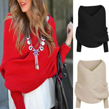 Women Casual Cardigans V-neck Long Sleeve Sweater Pullover Jumper Knitwear HS