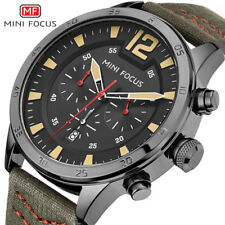 MINI FOCUS Chronograph Men Quartz Sports Watches Men Nylon Casual Military Wrist
