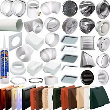 "(5"") 125mm Round Ducting Ventilation Pipe Fittings -Tubes,grilles, Extractor Fan"