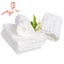 10 Layers Cloth Gauze Cotton Baby Inserts Nappy Liners White Changing Pad Diaper
