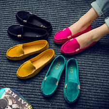 Womens Casual Shoes Suede Moccasin Flats Loafers Ladies Ballerina Ballet Slip On