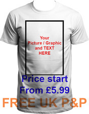 Personalise Your Image Photo Text Here - Custom T Shirt Printing Stag Hen Party