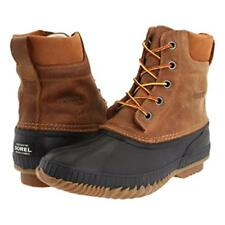 Sorel mens Cheyanne Lace Full Grain waterproof leather winter snow boots Brown