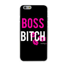 Boss Bitch Kiss Pink Heart Black Hard Cover Case For iPhone 10 Galaxy Huawei New