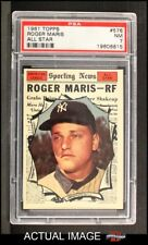1961 Topps #576 Roger Maris - All-Star Yankees PSA 7 - NM