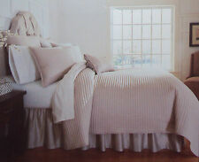 Noble Excellence Villa AMAFLI Euro Pillow Sham or King Bedskirt NWT, Taupe, NIP
