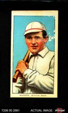1909 T206 Heinie Wagner Bat On Right Shoulder Red Sox VG