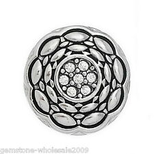 Wholesale Lots Snap Button Fit Snap Bracelets Rhinestone Oval Pattern Carved