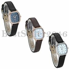 Women Ladies Square Quartz Watch Leather Band Business Casual Dress Wrist Watch