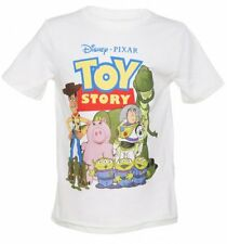 Official Kids White Disney Pixar Toy Story Andy's Toys T-Shirt