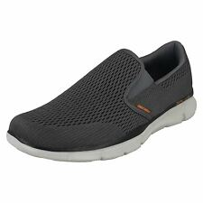 Skechers Equilizer-Double Play Mens Charcoal/Orange Memory Foam Shoes
